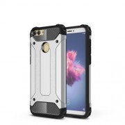 Armor Guard Plastic + TPU Hybrid Case for Huawei P Smart / Enjoy 7S - Silver