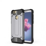 Armor Guard Plastic + TPU Hybrid Cover for Huawei P Smart / Enjoy 7S - Grey