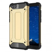 Armor Guard Plastic + TPU Hybrid Cell Phone Case for Huawei Honor V10 / Honor View 10 - Gold