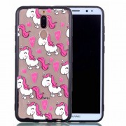 Rubberized Embossed PC TPU Hybrid Mobile Phone Case for Xiaomi Huawei Mate 10 Lite/nova 2i/Maimang 6/Honor 9i (India) - Unicorns