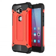 Armor Guard Plastic + TPU Hybrid Phone Case for Huawei Honor 5X / Play 5X - Red