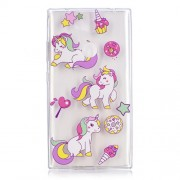 Embossment Pattern TPU Cell Phone Cover for Sony Xperia L2 - Unicorns