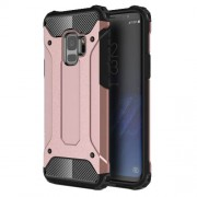 Armor Guard Plastic + TPU Hybrid Cell Phone Cover for Samsung Galaxy S9 G960 - Rose Gold