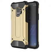 Armor Guard Plastic + TPU Hybrid Protective Case for Samsung Galaxy S9 G960 - Gold