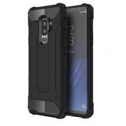 Armor Guard Plastic + TPU Hybrid Cover Case for Samsung Galaxy S9+ G965 - Black