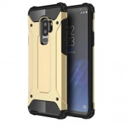Armor Guard Plastic + TPU Hybrid Case Phone Shell for Samsung Galaxy S9+ G965 - Gold