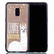 Θήκη Σιλικόνης TPU με Σκληρή Πλάτη για για Samsung Galaxy A8 Plus (2018) - Αλπάκα που Θέλει να είναι Μονόκερος