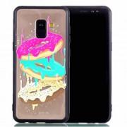 Θήκη Σιλικόνης TPU με Σκληρή Πλάτη για για Samsung Galaxy A8 Plus (2018) - Ντόνατς
