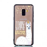 Rubberized Embossed Soft TPU Mobile Phone Case for Samsung Galaxy A8 (2018) - Unicorn