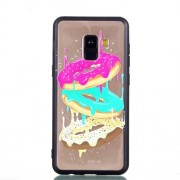 Rubberized Embossed Soft TPU Mobile Phone Shell for Samsung Galaxy A8 (2018) - Cookies