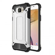Armor Guard Hybrid Plastic + TPU Shell for Samsung Galaxy J7 Prime / On7 2016 - Silver