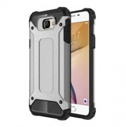 Armor Guard Hybrid Plastic + TPU Back Case for Samsung Galaxy J7 Prime / On7 2016 - Grey