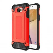 Armor Guard Hybrid Plastic + TPU Back Cover for Samsung Galaxy J7 Prime / On7 2016 - Red