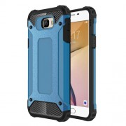 Armor Guard Hybrid Plastic + TPU Mobile Phone Cover for Samsung Galaxy J7 Prime / On7 2016 - Baby Blue