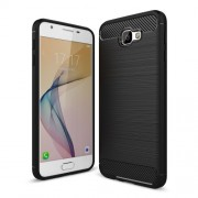 Θήκη Σιλικόνης TPU Carbon Fiber Brushed για Samsung Galaxy J7 Prime / On7 2016 - Μαύρο