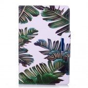 Pattern Printing Smart Leather Stand Case for Samsung Galaxy Tab E 9.6 T560 - Banana Leaves