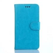Δερμάτινη Θήκη Πορτοφόλι με Βάση Στήριξης για Galaxy S6 SM-G920 - Μπλε