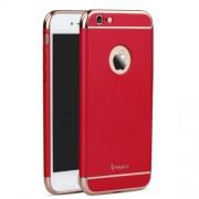 IPAKY Σκληρή Λεπτή Θήκη 3 σε 1 Electroplating για iPhone 6 Plus / 6S Plus - Κόκκινο