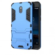 Cool Guard PC TPU Hybrid  Kickstand Mobile Case for Nokia 2 - Baby Blue