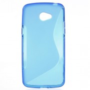 S Shape TPU Back Case for LG K5 - Blue