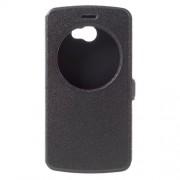 Δερμάτινη Θήκη Βιβλίο Smart Cover με Βάση Στήριξης για LG K5 - Μαύρο