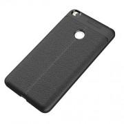 Θήκη Σιλικόνης με Επένδυση Πλαστικού (Όψη Δέρματος) για Xiaomi Mi Max 2 - Μαύρο