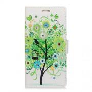 Δερμάτινη Θήκη Πορτοφόλι με Βάση Στήριξης για Redmi Note 5A Prime / Redmi Y1 - Πράσινο Δέντρο