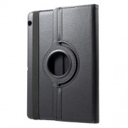 Litchi Grain 360 Degree Rotary Leather Stand Case for Huawei MediaPad T3 10 - Black