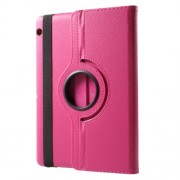 Litchi Grain 360 Degree Rotary Stand Leather Tablet Cover for Huawei MediaPad T3 10 - Rose