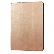 Δερμάτινη Θήκη Βιβλίο Tri-Fold με Βάση Στήριξης για Huawei MediaPad T3 10 9.6 - Χρυσαφί