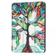 Patterned Anti-scratch PU Leather Protective Stand Case  for Huawei MediaPad T3 10 - Tree with Colorful Leaves