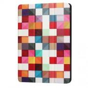 Δερμάτινη Θήκη Βιβλίο Tri-Fold με Βάση Στήριξης για Huawei MediaPad T3 10 9.6 - Πολύχρωμα Τετράγωνα