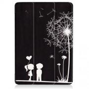 Δερμάτινη Θήκη Βιβλίο Tri-Fold με Βάση Στήριξης για Huawei MediaPad T3 10 9.6 - Ερωτευμένο Ζευγαράκι με Πικραλίδα