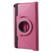 Litchi Grain 360 Degree Rotary Stand Leather Tablet Cover for Huawei MediaPad T3 7.0 - Rose
