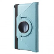 For Huawei MediaPad T3 7.0 Litchi Grain 360 Degree Rotary Stand Leather Shell - Baby Blue