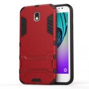 Υβριδική Θήκη Συνδυασμού Σιλικόνης και Πλαστικού με Βάση Στήριξης για Samsung Galaxy J7 (2017) Ευρωπαϊκή Έκδοση - Κόκκινο