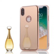 Mirror-like TPU Plating Cell Phone Case Accessory for iPhone X/10 5.8 inch - Gold