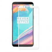 ENKAY Σκληρυμένο Γυαλί (Tempered Glass) Προστασίας Οθόνης Πλήρης Κάλυψης για OnePlus 5T - Λευκό