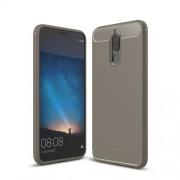 For Huawei nova 2i / Maimang 6 / Mate 10 lite Carbon Fiber Texture Brushed TPU Mobile Protective Case - Grey