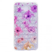 Ultra-thin Patterned Soft TPU Back Mobile Phone Protective Cover Case for Huawei Y5 (2017) / Y6 (2017) - Strips and Flowers