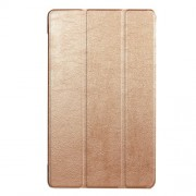For Huawei MediaPad T3 8.0 Tri-fold Stand PU Leather Flip Protective Case - Gold