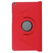 Περιστρεφόμενη Δερμάτινη Θήκη Βιβλίο με Βάση Στήριξης για Huawei MediaPad T3 8.0 - Κόκκινο