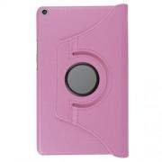 Περιστρεφόμενη Δερμάτινη Θήκη Βιβλίο με Βάση Στήριξης για Huawei MediaPad T3 8.0 - Ροζ