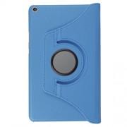 Περιστρεφόμενη Δερμάτινη Θήκη Βιβλίο με Βάση Στήριξης για Huawei MediaPad T3 8.0 - Γαλάζιο
