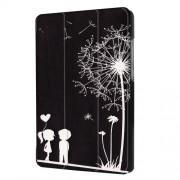 Δερμάτινη Θήκη Βιβλίο Tri-Fold με Βάση Στήριξης για Huawei MediaPad T3 7.0 - Πικραλίδα σε Μαύρο Φόντο