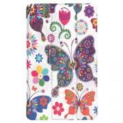 Δερμάτινη Θήκη Βιβλίο Tri-Fold με Βάση Στήριξης για Huawei MediaPad T3 7.0 - Πολύχρωμες Πεταλούδες