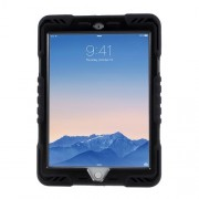 PEPKOO Spider Series PC + Silicone Heavy Duty Case Cover for iPad 9.7-inch (2017) / 9.7 (2018) - Black