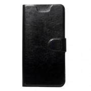 Δερμάτινη Θήκη Πορτοφόλι με Βάση Στήριξης για Xiaomi Redmi Note 5A Prime / Redmi Y1 - Μαύρο