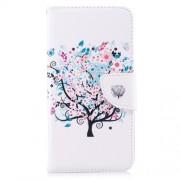 Δερμάτινη Θήκη Πορτοφόλι με Βάση Στήριξης για Xiaomi Redmi Note 5A Prime / Redmi Y1 - Δέντρο με Λουλούδια