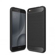 Carbon Fibre Brushed TPU Case for Xiaomi Mi 5c - Black